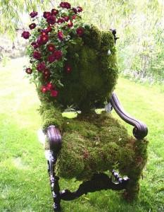 çiçekli sandalye