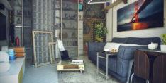 1+0 Stüdyo daire için dekorasyon fikirleri